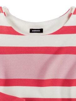 Struktur-Sweatshirt Streifen Calipso Detail 3