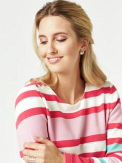 Struktur-Sweatshirt Streifen Calipso Detail 4