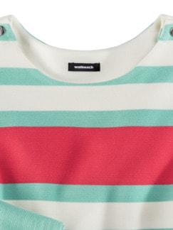 Struktur-Sweatshirt Mint gestreift Detail 4