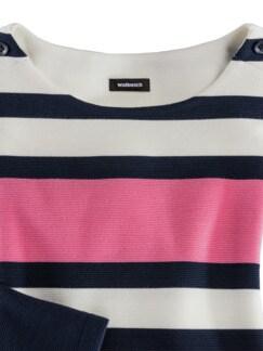 Struktur-Sweatshirt Marine/Mandarine/Pink gestr. Detail 3