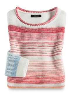 Pullover Farbverlauf Weiß/Pfirsich Detail 2