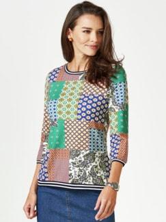 Blouson-Shirt Lissabon Grasgrün Multicolor Detail 1