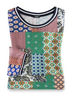 Blouson-Shirt Lissabon Grasgrün Multicolor Detail 2