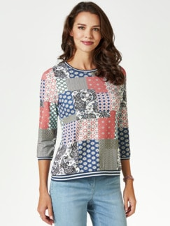 Blouson-Shirt Lissabon Teerose Multicolor Detail 1
