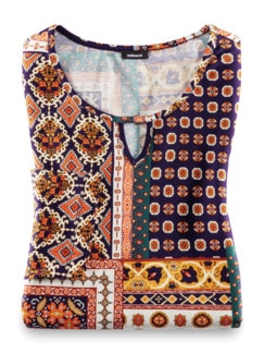 Viskose-Shirt Mosaik