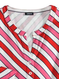 Viskose-Shirt Frischekick Karminrot/Pink Detail 3