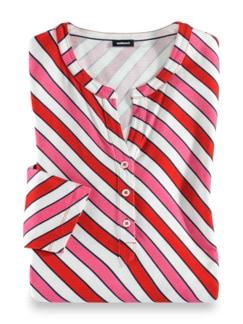 Viskose-Shirt Frischekick Karminrot/Pink Detail 2