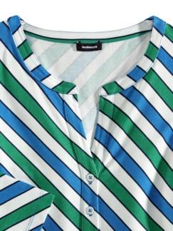 Viskose-Shirt Frischekick Grasgrün/Palazzoblau Detail 3