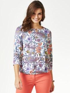 Blouson-Shirt Blumen-Paisley Mint/Melone Detail 1