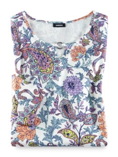 Blouson-Shirt Blumen-Paisley Mint/Melone Detail 2