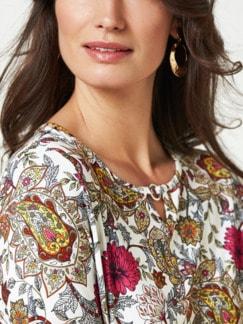 Blouson-Shirt Blumen-Paisley Fuchsia/Rose Detail 4