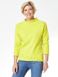 Relax-Sweatshirt Auroragelb Detail 1