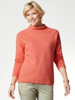 Relax-Sweatshirt Pfirsich Detail 1