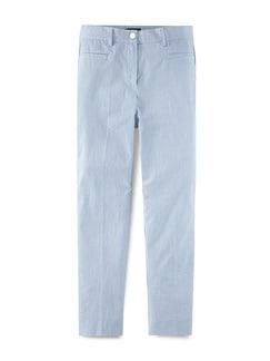 7/8 Seersucker Hose Blau/Weiß Detail 2