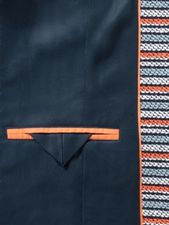 Jerseyblazer Riviera Marine/Orange Detail 3