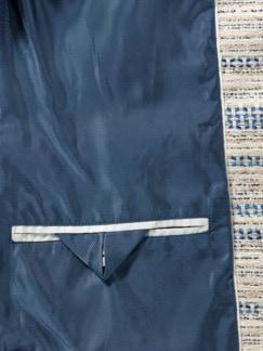 Rundhalsblazer Toskana Sand/Blau Detail 3