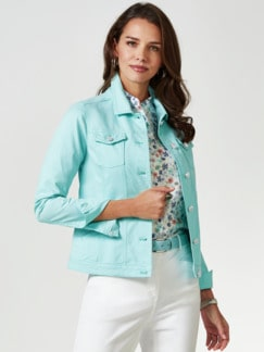 Powerstretch-Jeansjacke Mint Detail 1