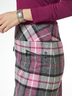 Wollrock British Wool Grau Kariert Detail 3