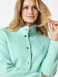 Double Face Wolljacke mint/beige Detail 4