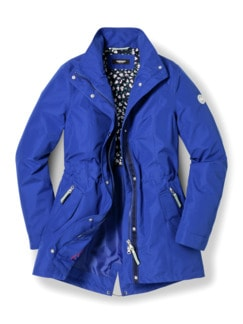 Aquastop Jacke Royalblau Detail 3