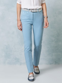 Passform Baumwollhose Feminine Fit Skyblue Detail 1