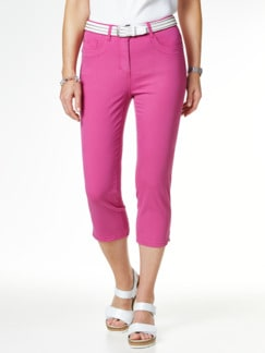 Baumwoll-Capri Supersoft Fuchsia Detail 1