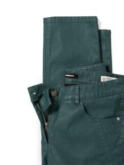 Lederoptikhose Softtouch Smaragdgrün Detail 4