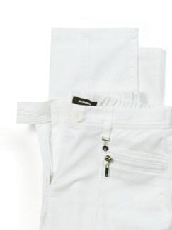 Cityhose Extraglatt Weiß Detail 4
