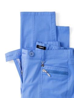 Cityhose Extraglatt Meerblau Detail 4