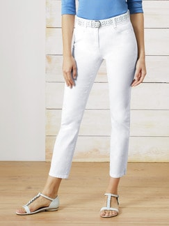 7/8 Yoga Jeans Supersoft White Detail 1