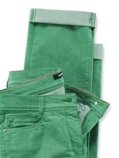 Yoga-Jeans Supersoft Grasgrün Detail 4