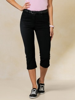 Capri Yoga-Jeans Black Detail 1