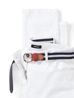 Gürtel- Jeans Weiß Detail 4