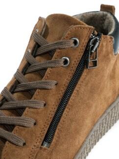 City Sneaker High Top Braun Detail 4