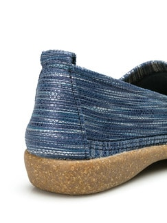 Koffer-Slipper Blau/Silber Detail 3