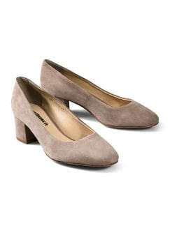 Soft-Block Pumps Taupe Detail 1