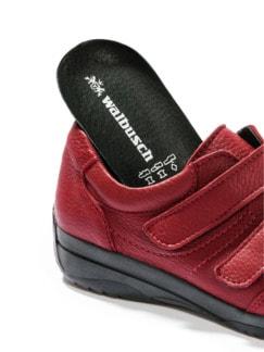 Hirschleder-Doppelklett-Schuh Rot Detail 3