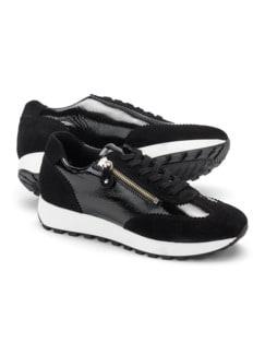 Materialmix Sneaker Schwarz Detail 1