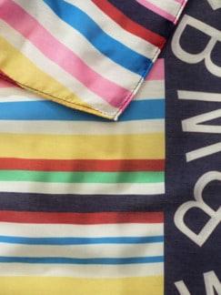 Colorblocking Streifen-Schal Multicolor Blau Detail 3