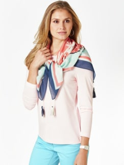 Swiss Cotton Country-Tuch Rose/Mint Detail 2