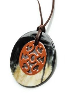 Hornanhänger Ornament Rostorange Detail 3