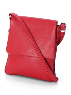 Ledertasche supersoft Rot Detail 1