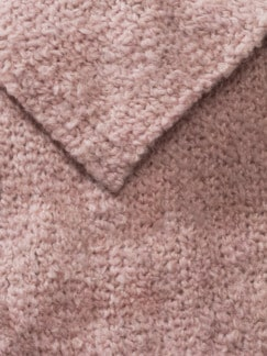 Boucle-Strickschal Cashmere Rosa Detail 3