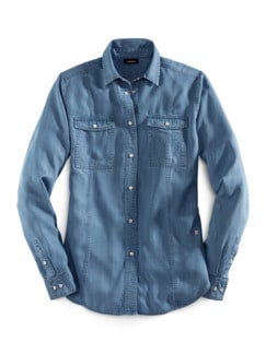 Lyocell-Jeansbluse Extraleicht