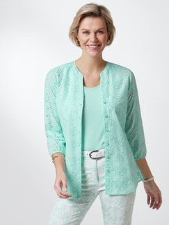Lochstickerei-Bluse Mint Detail 1