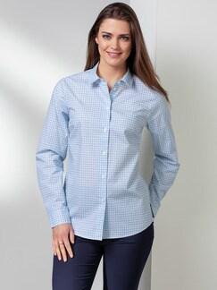 Extraglatt-Bluse Modern Classic Minimal Blau Detail 1