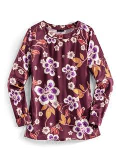 Viskose-Shirtbluse Herbstblüten Barolo Detail 2