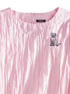 Shirtbluse Reisefertig Koralle/Weiß Detail 4