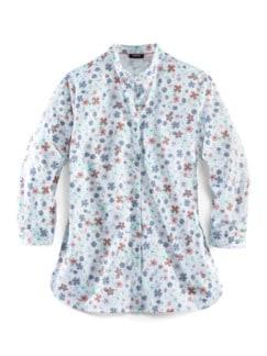Pima-Cotton-Hemdbluse Millefleurs bla Detail 2