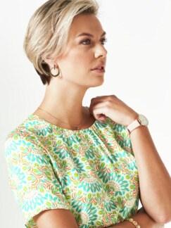 Viskose-Shirtbluse Bella Italia Grün Detail 4
